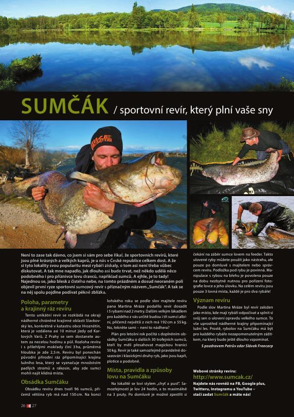 31.3. 015 SUMCAK.CZ v aktuálním čísle časopisu Český Rybář (duben 2015)..