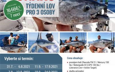 Seafishing 2021 special – týdenní lov tuňáků za 16666,- / osoba